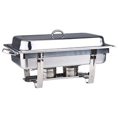 8qt Stackable SS Chafer - Comes with water pan and one food pan. Rental $12.00