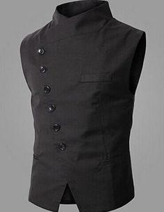 Chaleco para hombre QWG, casual // algodón poliéster Pure/vestir de trabajo xl: Amazon.es: Deportes y aire libre