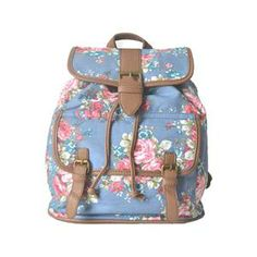 Rose Strap Blue Backpack.Blue backpack, featuring rose print, short double grab handle, spacious inner compartment with a double zip closure, double adjustable shoulder straps, inner zippered pockets and small pocket. - See more at: http://pariscoming.com/en-rose-strap-blue-backpack-p150333.htm#sthash.pLs5aKpN.dpuf