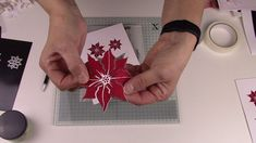 Swet Poppy Stencils: Poinsettia and Die - YouTube