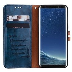 Leather Wallet phone cover for Samsung phone case Leather Case, Leather Wallet, Business Fashion, Business Style, Leather Material, Galaxy S8, Phone Accessories, Slot, Wax