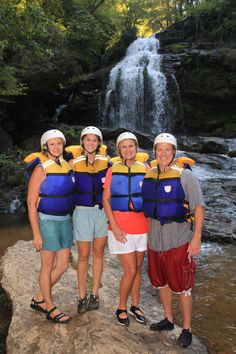 While it is raining is a perfect time to go whitewater rafting -  you're already wet, so go for it!  This was taken along Section IV of the Chattooga River.