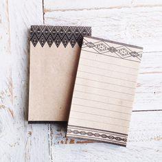 Kraft Tribal Notepads