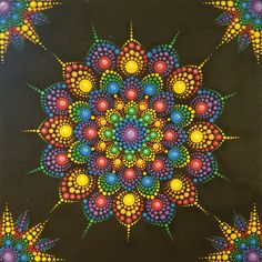 Joy ♡ Mandala ♡ Dot mandala ♡ Dots ♡ Polka Dot ♡ Acrylic ♡ Painting ♡ Decor ♡ Art