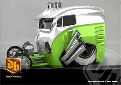 Vw art Vw T1 Camper, Volkswagen Bus, Weird Cars, Cool Cars, Custom Trucks, Custom Cars, Vw Rat Rod, Hot Rod Pickup, Cars Coloring Pages