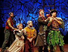 """José Restrepo (from left), Andy Paterson, Nick Vannoy, Tom Story and Arturo Soria perform in a scene from the Milwaukee Repertory Theater's """"Peter and the Starcatcher. Peter And The Starcatcher, Theatre Reviews, Lost Boys, Treasure Island, Musical Theatre, Costume Design, Milwaukee, Sleeve Tattoos, Wisconsin"""