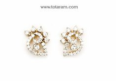 Totaram Jewelers: Buy 22 karat Gold jewelry & Diamond jewellery from India: Diamond Earrings