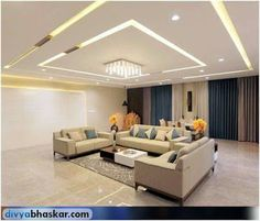 Jaw-Dropping Useful Ideas: False Ceiling Minimalist Living Rooms contemporary false ceiling chandeliers.False Ceiling Modern Home. House Ceiling Design, Ceiling Design Living Room, Bedroom False Ceiling Design, False Ceiling Living Room, Ceiling Decor, Living Room Designs, Ceiling Ideas, Living Rooms, Ceiling Lights