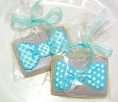 Custom Handmade Bow Tie Sugar Cookie Favor for by SweetRoseCookies