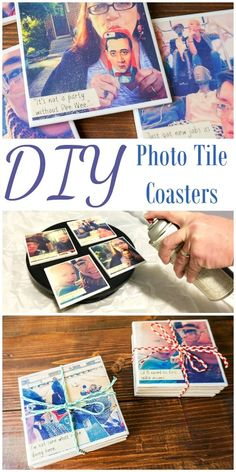 GLASUNTERSETZER DIY photo tile coasters made with the small spray shelter and turntable and instagra Photo Tile Coasters, Picture Coasters, Diy Mod Podge, Homemade Coasters, Diy Coasters, Diy Decoupage Coasters, Making Coasters, Custom Coasters, Ceramic Tile Crafts