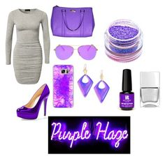 """Purple Haze"" by wherethewldthngsr on Polyvore featuring Club L, Casetify, Alexis Bittar, Kate Spade, Medusa's Makeup, Red Carpet Manicure and Nails Inc."
