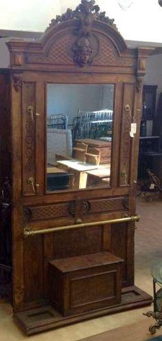 Antiguo recibidor perchero de estilo a o 1910 percheros recibidores pinterest perchero - Perchero recibidor antiguo ...