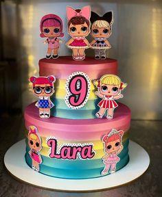 Doll Birthday Cake, Funny Birthday Cakes, Birthday Party Snacks, 1st Birthday Cake Smash, Barbie Birthday, Lol Doll Cake, Barbie Cake, Surprise Cake, Ballerina Cakes
