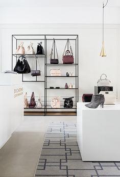 Decadent Copenhagen flagship store. Interior design by Helle Flou.