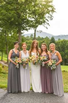 All my wonderful sisters!!! A Vintage Elegant North Carolina Wedding via TheELD.com