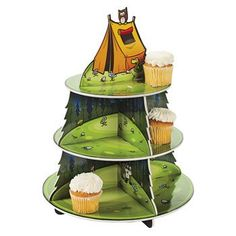 Camp Adventure Cupcake Holder - Party Decorations & Cake Decorating Supplies: Amazon.com: Kitchen & Dining