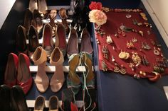 A detail shot of Catherine's shoe rack and earring board. this like Bleachie. Oh my God. So amazing. Shoe Storage Solutions, Woman Bedroom, Bedroom Storage, Shoe Rack, Organize, House Design, God, Detail, Interior Design