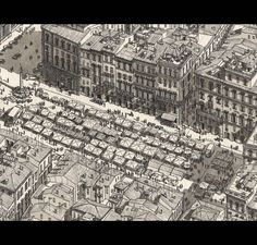 Fantasy in Detailed Architectural Drawingd created from memories of travels by Stefan Bleekrode. More information and more images from this Artist => http://bit.ly/1D1UHCp