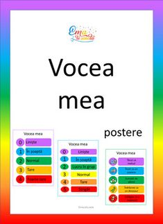 Voice Level Chart in Romanian by Ema La Scoala Reading Task Cards, Guided Reading, Close Reading, Behavior Management, Classroom Management, Voice Level Charts, Eyfs Classroom, Classroom Decor, Whole Body Listening