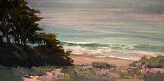 Looking Down on Baker Beach by Kim Lordier Pastel ~ 12 x 24