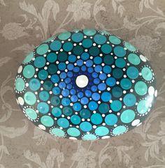 Mandala Stone- Hand Painted Rock- dot painting- meditation- inspiration- decoration by FloridaFunshine on Etsy https://www.etsy.com/listing/288258405/mandala-stone-hand-painted-rock-dot