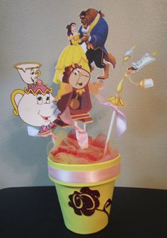 Princess Belle Beauty and the Beast Birthday Party Centerpiece   by KhloesKustomKreation, $30.00