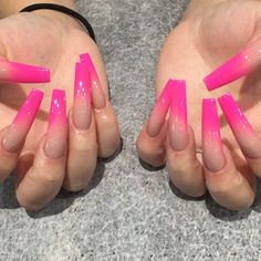Installation of acrylic or gel nails - My Nails Bling Acrylic Nails, Aycrlic Nails, Glam Nails, Best Acrylic Nails, Pink Ombre Nails, Pastel Nails, Nail Swag, Gorgeous Nails, Pretty Nails