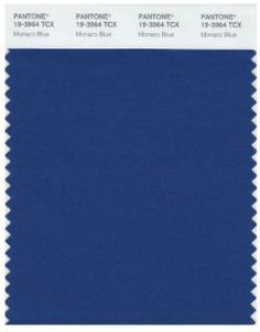 Monaco Blue - Pantone has just announced that its one of the top colors for spring 2013. Is indeed a shade of blue. Monaco Blue to be precise, is kind  a duller navy and cobalt hybrid.