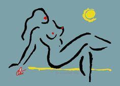 http://stores.ebay.de/universal-arts JACQUELINE DITT - Hot Girl - Mini  ltd.Grafik 1/99 gerahmt signiert Bilder Akt
