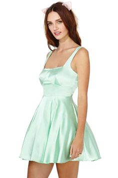 Nasty Gal Smooth Moves Dress - Mint