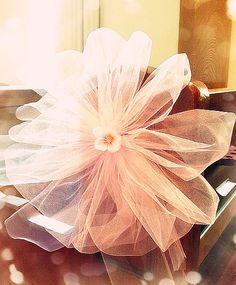Hand crafted Sakura Tulle Blossom. Used to decorate the aisle of a church wedding ceremony.