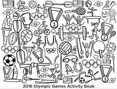 Easy Rio Olympics Crafts: download Laura Palmer's Rio Olympics Activity book for endless coloring fun