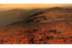 NASA's Opportunity rover may have a bit of amnesia, but that didn't stop it from capturing a spectacular vista from the rim of a crater. Cosmos, Mars Planet, Red Planet, Mars Surface, Sky Watch, Solar System Planets, Space Photography, Space And Astronomy, Astronomy Science