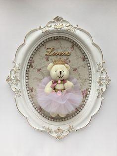 L wall decor baby Girl Nursery, Girl Room, Baby Room, Nursery Decor, Wall Decor, Baby Frame, Bear Crafts, Baby Kit, Baby Shower