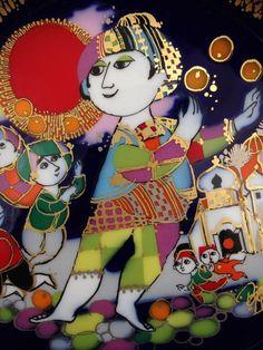 German Rosenthal Wall Plate Aladin II, Bjorn Wiinblad Porcelain in Pottery & Glass, Pottery & China, China & Dinnerware | eBay