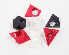 3D printed rings, Theresa Burger