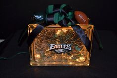 Check out this item in my Etsy shop https://www.etsy.com/listing/174555177/philadelphia-eagles-lighted-glass-block