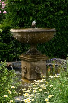 Classical Fountain in Garden