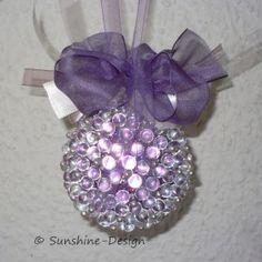 In liebevoller Handarbeit gefertigter Fensterschmuck Paillettenkugel Perlenkugel Dekokugel  Ein zauberhafter Hingucker
