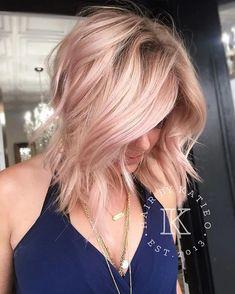 Ideas hair color blonde highlights pink rose gold for 2019 Ombre Blond, Blonde Wig, Blonde Pink Balayage, Blonde With Pink, Blonde Color, Pastel Blonde, Pastel Pink, Real Hair Wigs, Human Hair Wigs