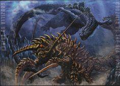 godzilla   Godzilla Uchusen Daikaiju Art by ~bridwell1962 on deviantART
