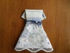 Hochzeitskleid Geldgeschenk fertig