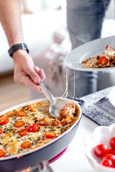 Köttfärsgratäng med mozzarella och färsk oregano - 56kilo.se   LCHF Recept & Livets goda