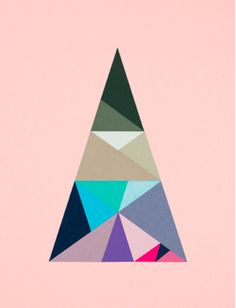 Creative Graphic, Plenty, Colour, Collage, and Paper image ideas & inspiration on Designspiration Geometric Poster, Geometric Shapes, Geometric Painting, Geometric Wall, Illustrations, Graphic Illustration, Triangles, Golden Triangle, Art Graphique