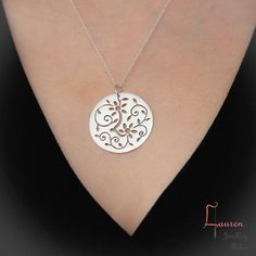 Hand pierced sterling silver flower pendant by LaurenJewelAtelier - especially…