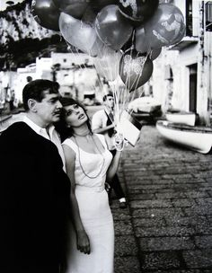"Clark Gable & Sophia Loren in ""It Started in Naples"" (1960)."