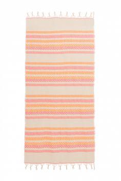 Devotion Damen Strandtuch Orange/Pink | SAILERstyle Orange, Pink, Outdoor Blanket, Ladies Day Dresses, Cotton, Pink Hair, Roses