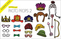 great resource! lots of free photobooth props to use for magnetic DIY//via getcreativejuice
