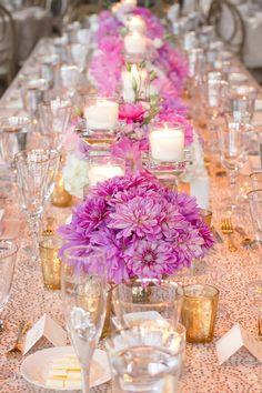 Featured Photographer: Laura Jane Photography; Wedding reception centerpiece idea.