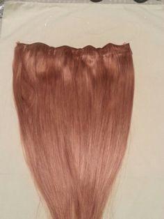 "Flip in/ Halo Human Hair Extensions. 18"" 80 grams $69.99"